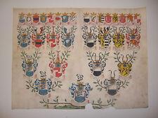 Wappenstammbaum Adel Heraldik Vellum Pergament, Fam. VON DER THANNE 1683 selten!