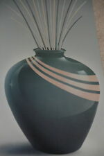 """Vintage  Print Vase"""" Keith  Mallett 37""""x12"""" Floral Unsigned Artwork Reproduction"""