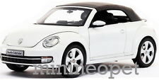KYOSHO 08812PW VW VOLKSWAGEN THE BEETLE CONVERTIBLE 1/18 DIECAST ORYX WHITE