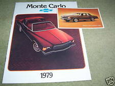 1979 CHEVROLET MONTE CARLO BROCHURE / CATALOG  plus ORIGINAL 79 POSTCARD, CHEVY