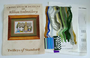 Twilleys of Stamford Cross Stitch Design with Ribbon Embroidery Chimney Cottage