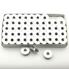 100 Pk. Aluminum Bobbins For Juki TL-98Q TL-2010Q, Janome 1600P, Brother PQ1500
