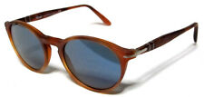 PERSOL 3092SM 3092/SM 50 900656 SATIN LIGHT HAVANA SUNGLASSES BLUE LENS AVANA