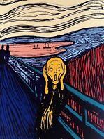 The Scream (Orange) Sunday B. Morning, Silkscreen, Andy Warhol - with COA