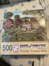 "500 Piece Art Puzzle ""Chatting Across The Fence"" 18x24"