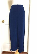CHICO'S TRAVELERS *NEW SIZE 4 (2XL) BLUE ELASTIC WAIST RUCHED LEG PANTS