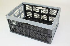 2 x Foldable box 32l Faltbox Folding Stacking boxes crates Storage Plastic