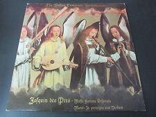 """JOSQUIN DES PRES  THE BOSTON CAMERATA  JOEL COHEN  TITANIC RECORDS   LP 33T 12"""""""