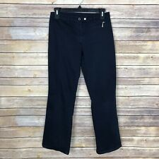DKNY Girls Size 14 Boot Cut Chino Pant Stretch Mid Rise Navy Blue