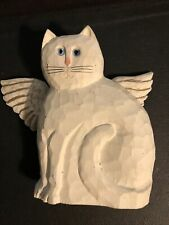 James Haddon White Cat With Angel 😇 Wings Blue Eyes 8� High X 8.5� Wide X 2.5�