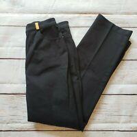 St. John Sport by Marie Gray Pants Black Size 4 Gold Tone Hardware High Rise