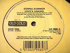 "DONNA SUMMER - LOVE'S UNKIND    7"" OLD GOLD VINYL"