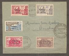 LETTRE CAMEROUN FRANKREICH KOLONIE VALMY FFL CENSURE N°240/244 OBLITERE USED