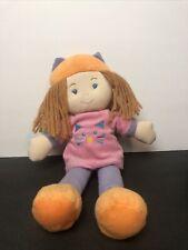 "Kids Preferred 12"" Plush  Doll Filled With Wonder purple cat ears shirt 2014 htf"