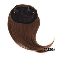 Short neat bangs Clip on Front Neat Bang Fringe Clip in Hair Extension Bang DT4C
