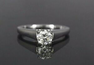 $5,200 ArtCarved Palladium 0.70ct Round Diamond Engagement Ring Band Sz 6.75