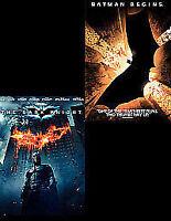 The Dark Knight / Batman Begins Double Pack DVD Blu-ray