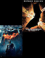 The Dark Knight / Batman Begins Double Pack DVD Blu-ray Christian Bale Heath use