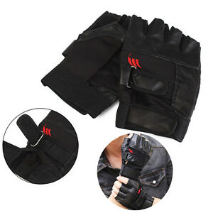 Men Weight Lifting Gym Exercise Training Sport Fitness Sports Leather Gloves HF