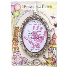 Baby's First Christmas Ornament Baby GIRL New Handprint Recipe Pink