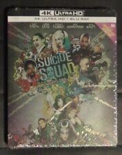 Suicide Squad Region Free 4K UHD & Blu-Ray Steelbook Italian Import