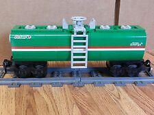 "NEW Lego Train Custom Green Octan Car 9"" inches long"