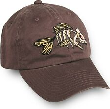 Mean Bonefish Cotton Twill Cap in YOUTH Size. Brown