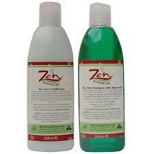 ZEN TEA TREE SHAMPOO/CONDITIONER Pack Organic 250ml Protects scalp hair loss
