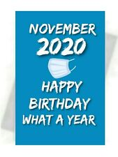 NOVEMBER BIRTHDAY 2020 GREETING CARD + FREE KEYRING