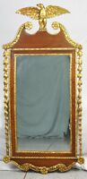 High Quality Federal Mahogany Gilt Gesso Mirror with Eagle Williamsburg Style