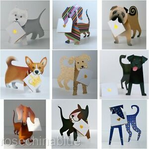 3D Special Delivery Stand Up Greeting Card Dogs & Christmas