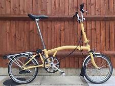 BROMPTON M3R DESERT SAND RACK FOLDING BIKE CYCLE BICYCLE - WORLDWIDE SHIPPING