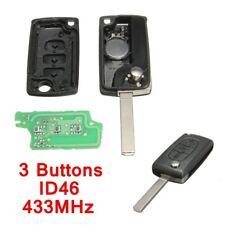 3 Buttons Remote Key Fob Shell Case for PEUGEOT 207 307 308 407 Citroen C2 C3 C4