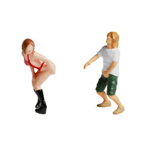 1:87 Miniature Scene People Figures Diorama Painted Human Figure HO Scale