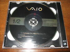 Sony Vaio VGN-A290 Series Laptop Recovery Disc