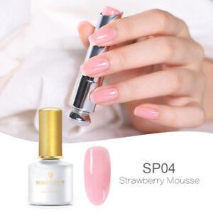 6ml Pink Clear Jelly UV Gel Nail Polish Soak Off Gel Varnish BORN PRETTY