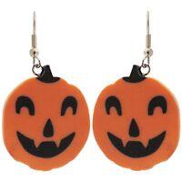 """1"""" Pumpkin Jack-O-Lantern Halloween Earrings!"""