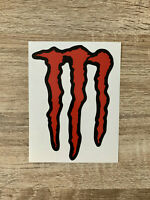 griffe monster sticker rouge red - 14x10cm - mx bike voiture autocollant decals