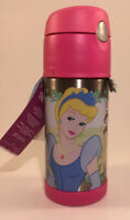 Disney Princess Thermos Funtainer 12oz Stainless Steel Water Bottle W/Tags