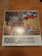 Cider Time 1000 Piece Jigsaw Puzzle bits and pieces