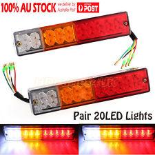 2x 12V 20LED Tail light Stop Brake lamps Lights Indicators Boat Trailer kit bar
