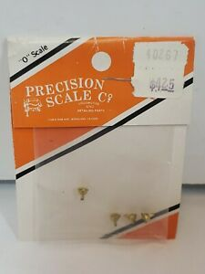 """Precision O Scale   #40267 Plugs, 8"""" OD Wash-Out, Flanged Brass Casting NOS"""