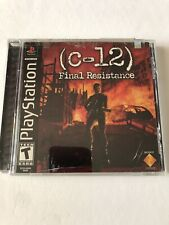 C-12: Final Resistance (Sony PlayStation 1, 2002) Brand New Sticker Sealed