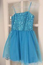 Girls Un Deux Trois sequin party dress turquoise (age 12) Nordstrom