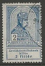 HUNGARY SG151 1913 2k+2f GREY-BLUE FINE USED