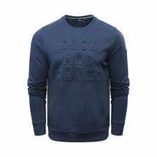 Mens Duck and Cover Linden Embossed Crew Sweatshirt in Deep Navy XL DC2E111549ANAV248