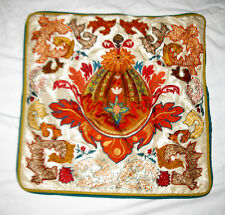 """Beautiful Pier 1 Imports Floral Embroidered Ethnic Zipper 19"""" Pillow Cover"""