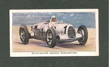 AUTO UNION  BERND ROSEMEYER International Grand Prix Donnington Park winner 1938