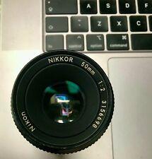 Nikon Nikkor 50mm 1 : 2  lens no.3156698 non AIS