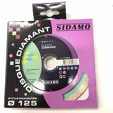 disque diamant sidamo star céram sec et à eau diamètre 125 sidamo neuf